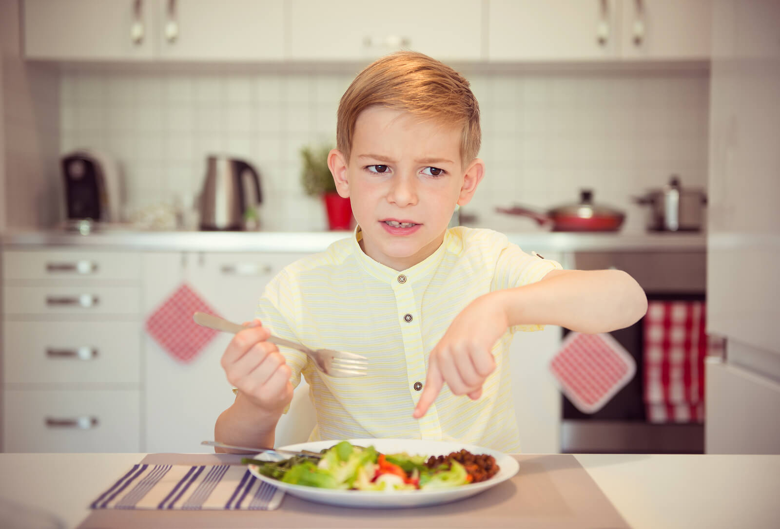 bigstock Angry Hungry Boy Child Complai 148104515