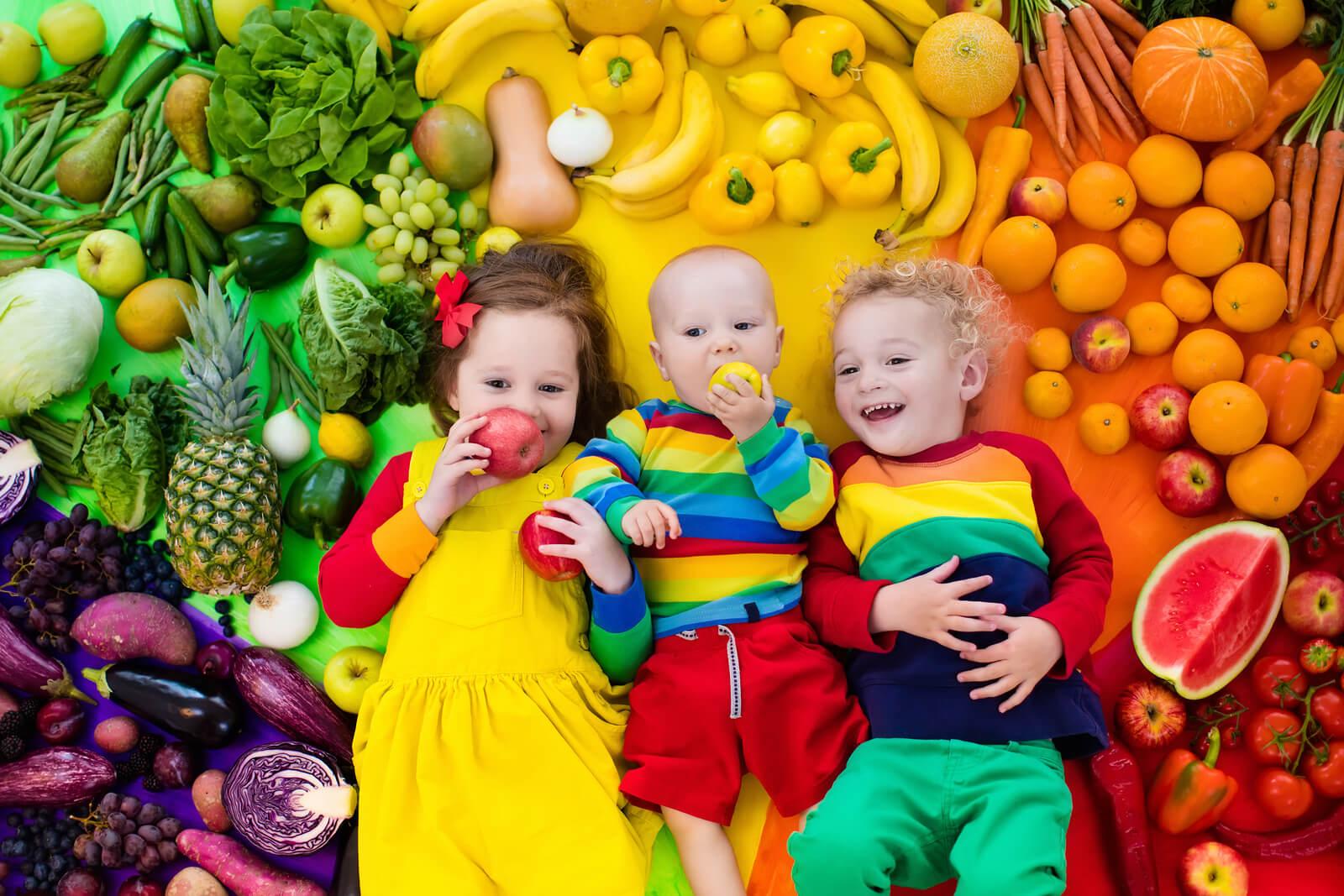 kidsliggeningroenteenfruit