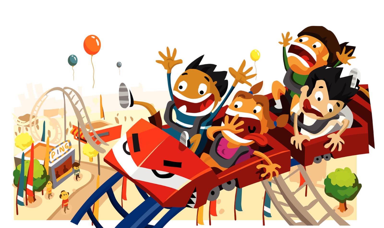 bigstock Fun With Roller Coaster 6639012